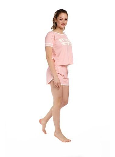 Pamuk & Pamuk Kadın Şortlu Pembe Spor Eviçi Giyim Renkli